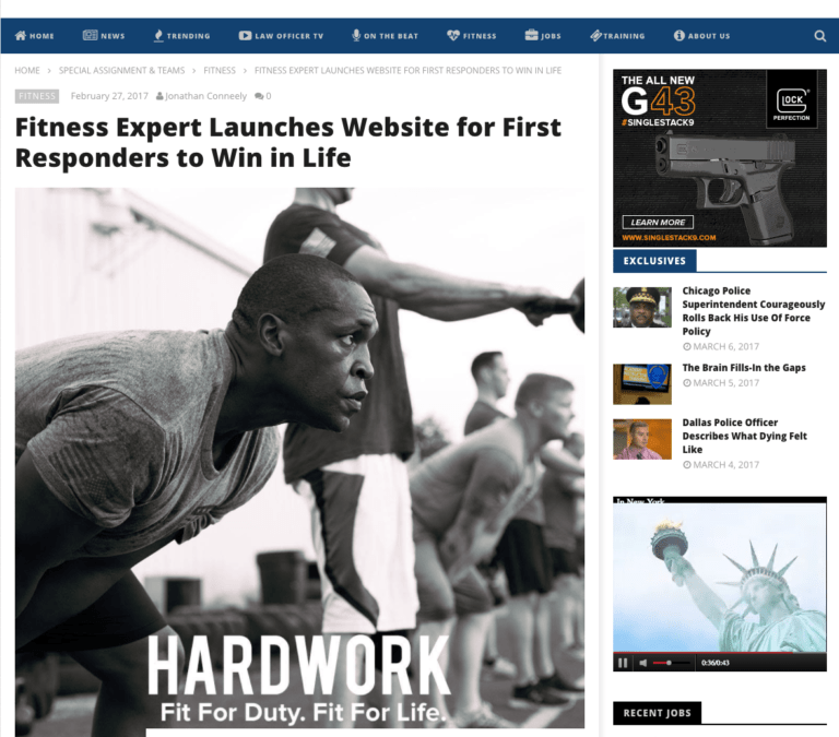 Fitness Expert Launches Website For First Responders To Win In Life