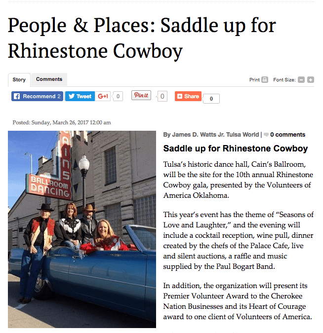 People & Places: Saddle up for Rhinestone Cowboy