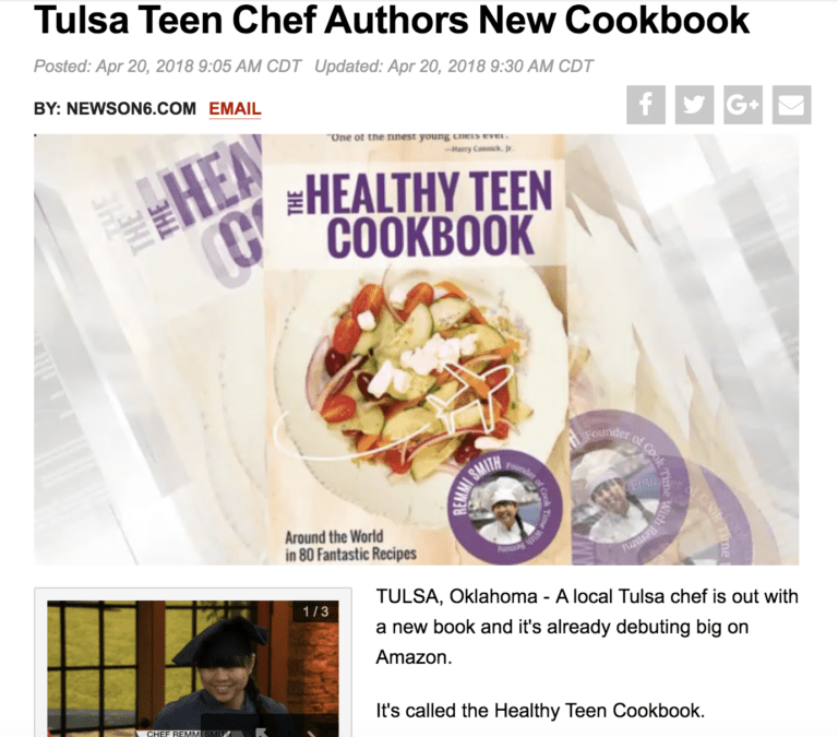 Tulsa Teen Chef Authors New Cookbook