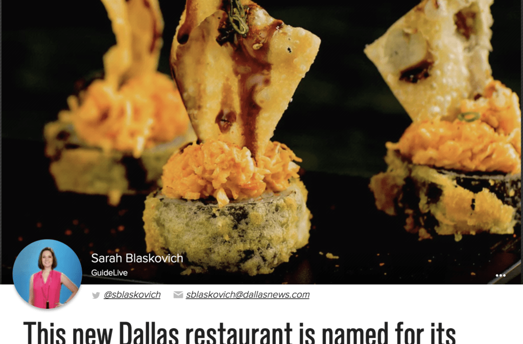 This new Dallas restaurant is named for its SushiFork