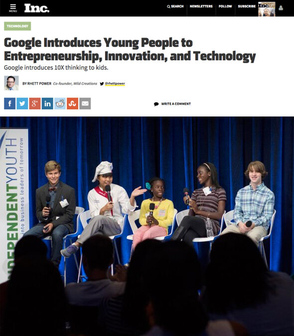 Google Introduces Young People to Entrepreneurship, Innovation, and Technology