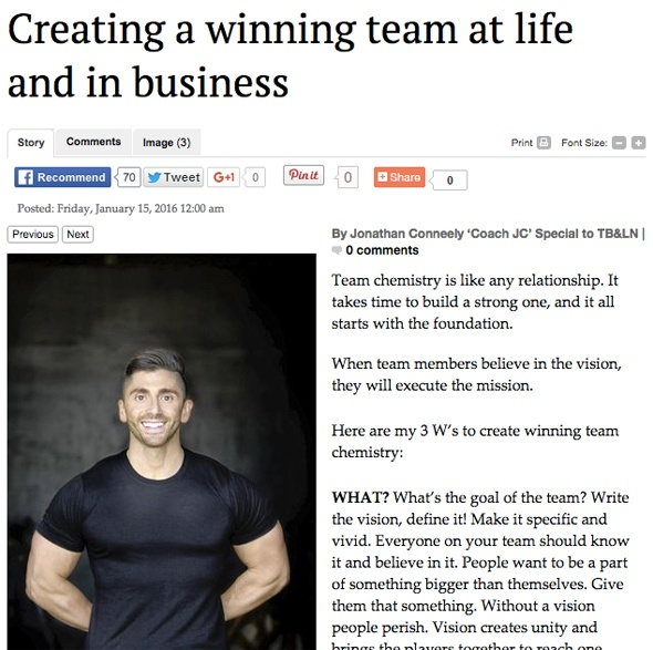 Creating a winning team in life and in business