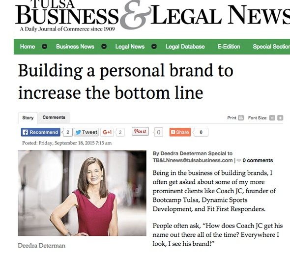 Building a personal brand to increase the bottom line