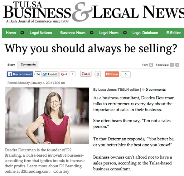 Why you should always be selling?