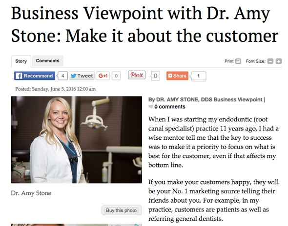 Business Viewpoint with Dr. Amy Stone: Make it about the customer