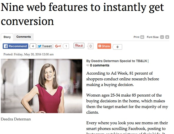 Nine web features to instantly get conversion